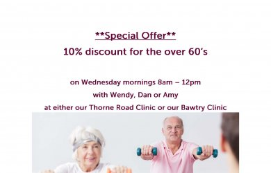 10% Discount for the over 60's on Wednesday 8am – 12pm